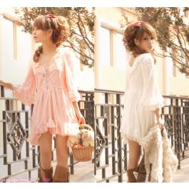 Double Ruffle Lace Dress