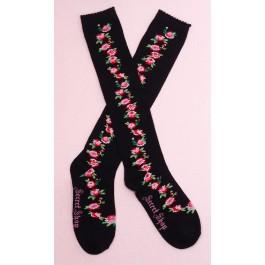 Secret Shop Red Rose Bouquet Lolita Socks