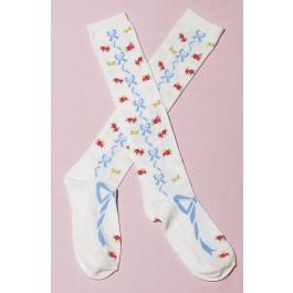 Secret Shop Flower Bow Lolita Socks