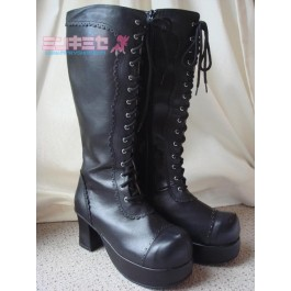 Lace Up Gothic Lolita Boots