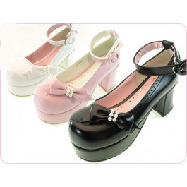 Secret Shop Lolita Pearl Bow Shoes