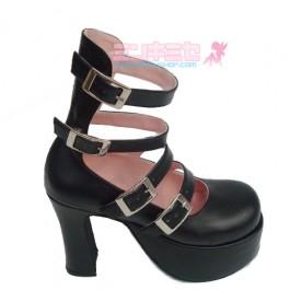 Strappy Punk Lolita Platform Heels