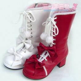 Pom-Pom lolita Calf Boots
