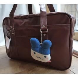 Fancy Pocket Japanese Leather School Girl Bag