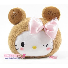 Biscuit Bear Hello Kitty Plush Cushion