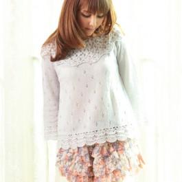 Elegant Pearl Crochet Sweater