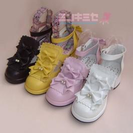 Lolita Twin Pearl Shoes