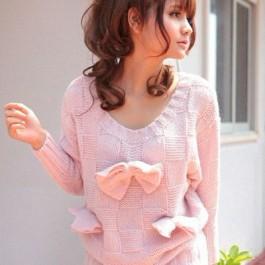 Sweet Bow Angel Sweater