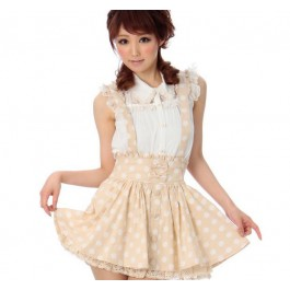 Milky Creme Suspender Two Piece