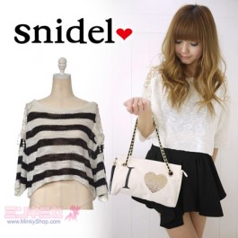 Snidel Embroidery Shoulder Pullover