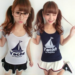 Sailor Girl T-shirt & Mini Skirt