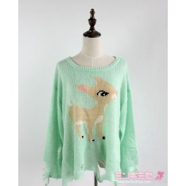 Wildfox Couture Little Helper Bambi Sweater