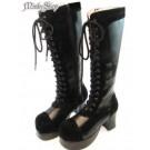 Angel Doll Elegant Lolita Boots - Black Size L (24.5cm)