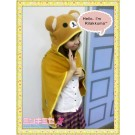 Rilakkuma Otaku Hooded Cape Blanket