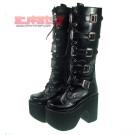 Gothic Punk Buckle Platform Boots