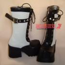 Studded Punk Calf Boots