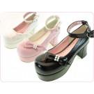 Secret Shop Lolita Pearl Bow Shoes