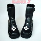Cross Punk Platform Calf Boots