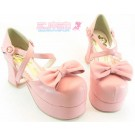 Secret Shop Platform Bow Lolita shoes