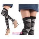 Argyle School Girl Knee Socks