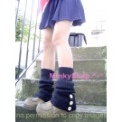 Schoolgirl Button Leg Warmers