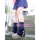 Schoolgirl Button Leg Warmers