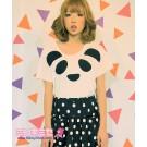Candy Stripper Panda T-Shirt