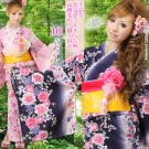 Cherry Blossom Blue Base Yukata Set