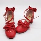 Christmas Lolita Sweet Heart Heels