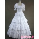Pure White Lolita Victorian Dress
