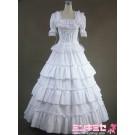 Pure White Lolita Victorian Dress