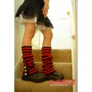 Japanese Striped Punk Leg Warmers