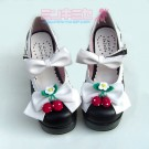 Strawberry Bow Lolita Heels