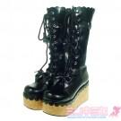 Punk Lolita Platform Calf  Boots