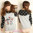 Cute Polka Dot Sequins Sweater