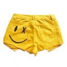 Smiley Face Denim Shorts