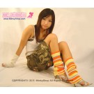 Japanese Rainbow Leg Warmers