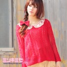 Lace Collar Crochet Sweater