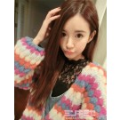 Lily Brown Retro Rainbow Cardigan