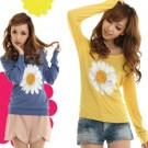 Miia Sunflower Pullover Sweater