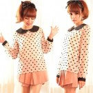 Vintage Dots Sheer Chiffon Shirt