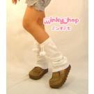 Schoolgirl Pom Pom Leg Warmers