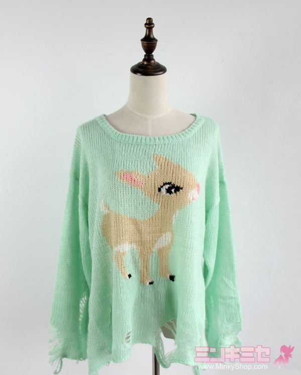 Wildfox Couture Little Helper Bambi Sweater