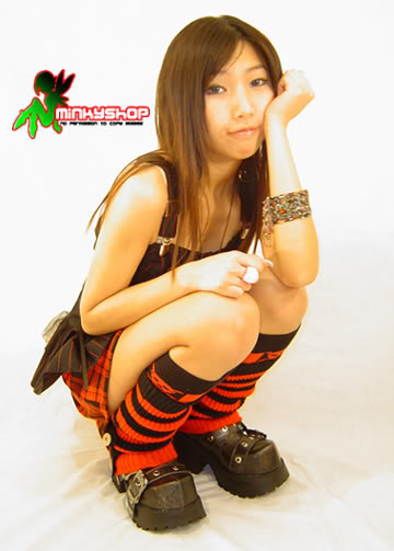 Japanese Striped Punk Leg Warmers