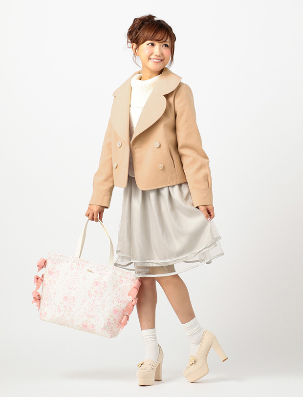 LIZ LISA Rose Ribbon Tote